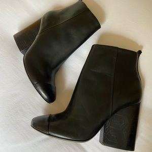 Tory Burch black booties - new without tags